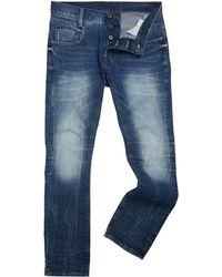 G-star Raw Radar Slim Medium Aged Denim Jeans - Lyst