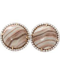 Pamela Huizenga - Saturn Chalcedony Stud Earrings - Lyst