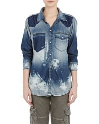 NSF Clothing Distressed Leslie Shirt - Lyst