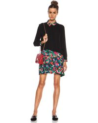Band Of Outsiders Pleated Shirt Silk Dress - Lyst