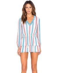 Tessora - Boho Mini Dress - Lyst