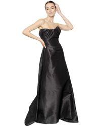 Vivienne Westwood Silk Faille Bustier Long Dress - Lyst