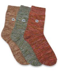 TOMS - 3 Pack Yarn Socks - Lyst