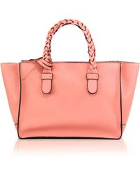 Valentino Braided-Handle Tote pink - Lyst