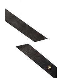 Nasty Gal Blow The Belt Ribbon Leather Belt - Lyst