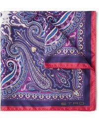 Etro Paisley-print Silk Pocket Square - Lyst