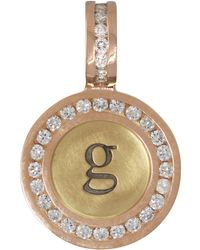 Heather Moore - 14K Yellow/Rose Gold Single Lowercase Initial Charm With Diamonds - Lyst