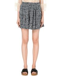 Free People So Much Sun Cotton Skirt - For Women black - Lyst