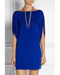 Milly Stretch-silk Mini Dress - Lyst