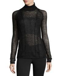 L.A.M.B. Mixed-Knit Turtleneck Sweater - Lyst