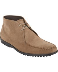 Tod's Two-Eye Chukka Boots - Lyst