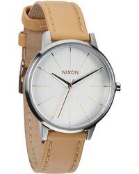 Nixon - Womens The Kensington Leather Strap Watch - Lyst