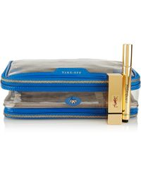 Anya Hindmarch In Flight Patent Leathertrimmed Travel Case - Lyst
