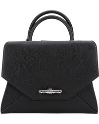 Givenchy Black Leather Small 'Obsedia' Convertible Tote Bag - Lyst