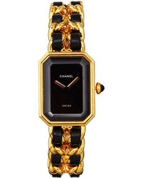 What Goes Around Comes Around Chanel Black Gold Premiere Large Watch - Lyst