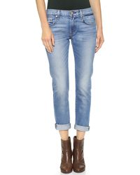 7 For All Mankind Relaxed Skinny Jeans Super Heritage Blue - Lyst