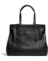 Coach Bleecker Shopper in Pebbled Leather - Lyst