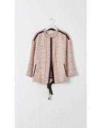 Giada Forte Linen Embroidered Kimono Jacket - Lyst