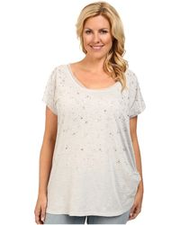 DKNY Plus Size Embellished Tunic Top - Lyst