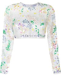 Ashish | Embellished Organza Cropped Top | Lyst