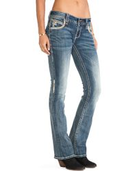 Rock Revival Blue Stephanie Bootcut - Lyst