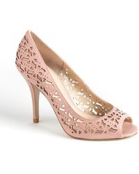 Enzo Angiolini - Mega Star Leather Laser-Cut Court Shoes - Lyst