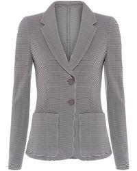 Armani Knitted Tweed Blazer - Lyst