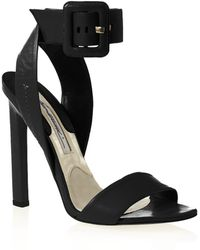 Brian Atwood Arizona Leather Anklestrap Sandals - Lyst