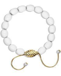 David Yurman Signature Spiritual Beads Bracelet In Gold - Lyst