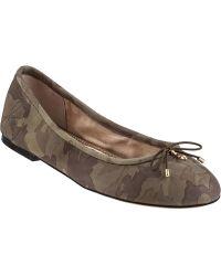 Sam Edelman Felicia Ballet Flat Camo Leather - Lyst