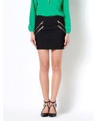Patrizia Pepe Mini Stretch Fabric Skirt - Lyst