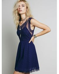 Free People Victoria Mini Dress - Lyst