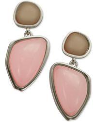 T Tahari Double Drop Earrings - Lyst