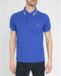 Fred Perry Classic Navy, Blue And Yellow Slim-Fit Polo Shirt blue - Lyst