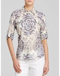 Tory Burch Brigitte Printed Utility Shirt - Lyst
