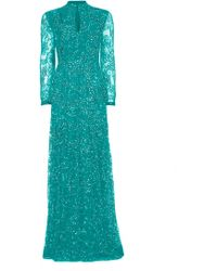 Matthew Williamson Evening Couture Lace Keyhole Gown - Lyst
