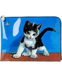 Vivienne Westwood Large Kitten Pouch blue - Lyst