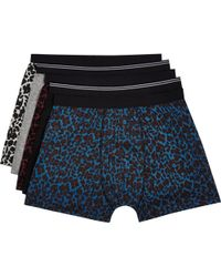 River Island Mixed Leopard Print Boxer Shorts Pack - Lyst