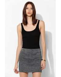 Sparkle & Fade - Burnout Rib Mini Skirt - Lyst