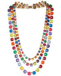Erickson Beamon - Splash Gold-Plated Crystal Necklace - Lyst