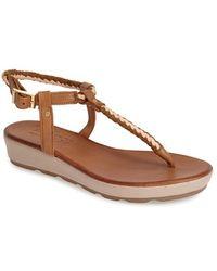 Miz Mooz 'Keisha' Braided Thong Platform Sandal - Lyst