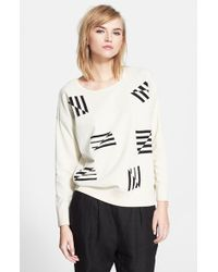 Band of Outsiders 'Flying Stripe' Jacquard Sweater - Lyst
