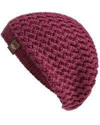 UGG - Australia 'sequoia' Knit Beanie - Purple - Lyst