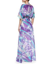 Emilio Pucci Long Printed Maxi Coverup - Lyst