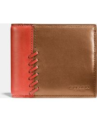 COACH | Rip And Repair Compact Id Wallet In Sport Calf Leather | Lyst