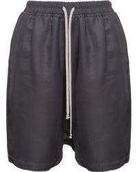 Rick Owens Bermuda Mesh Shorts khaki - Lyst