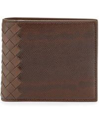 Bottega Veneta Karung Bi-Fold Wallet - Lyst