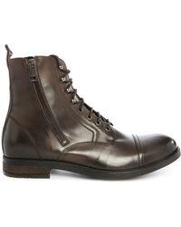 DIESEL | D-kallien Brown Aged Leather Boots | Lyst