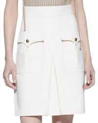 Gucci Techno Cotton A-Line Skirt white - Lyst