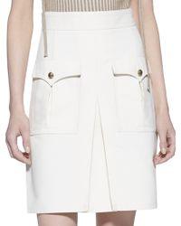 Gucci Techno Cotton A-Line Skirt white - Lyst
